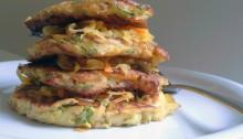 Zucchinipuffer-mit-Currykraut