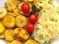 Za'atarkraut mit Avocado und Kochbanane