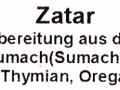 Za'atar, spirit of spice